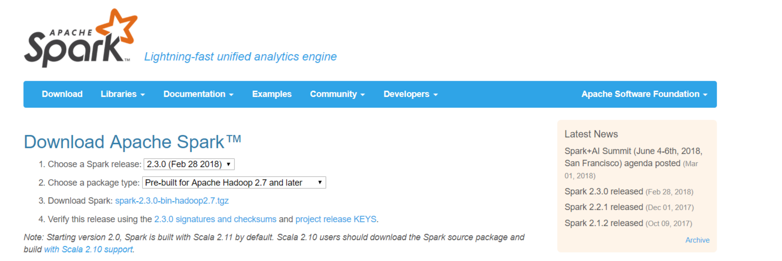 image from Apache Spark on Windows