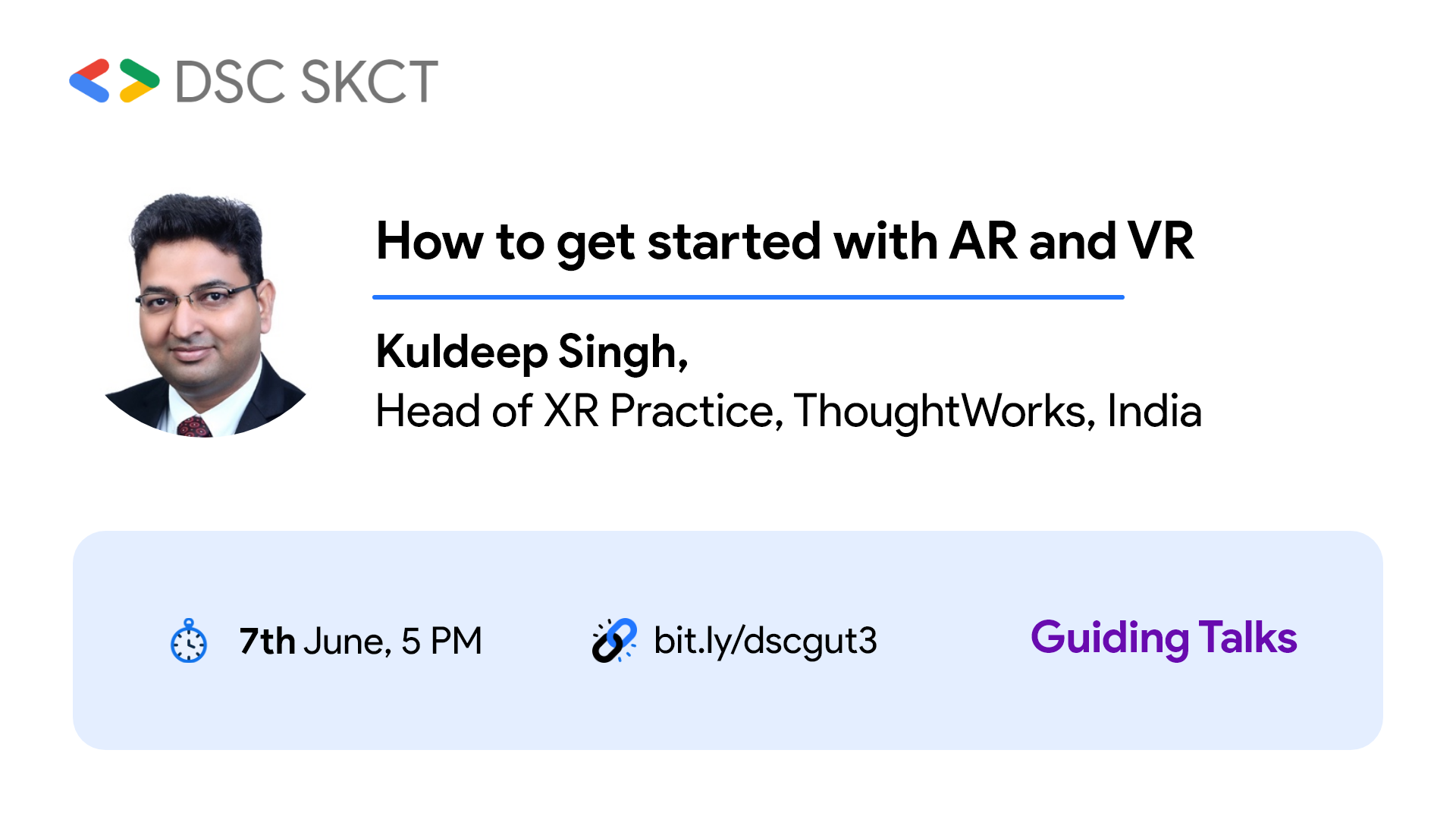 image from Speaker - Google DSC - How to get started with AR VR?