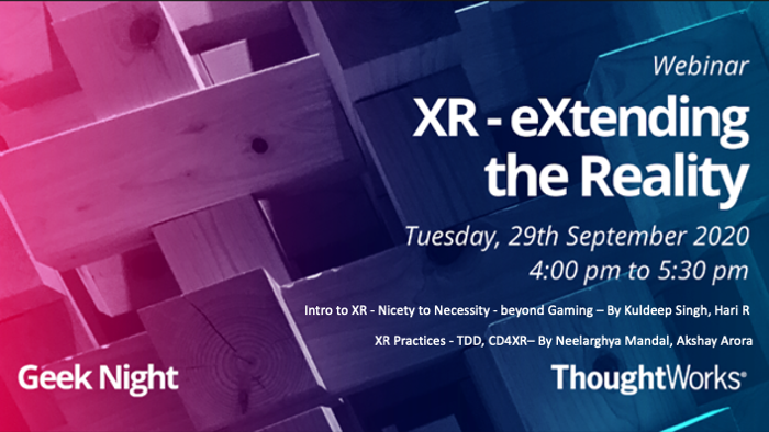 image from Geeknight - XR - eXtending the Reality