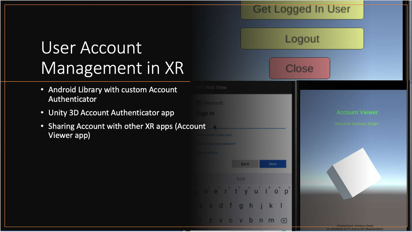 image from User Account Management In XR