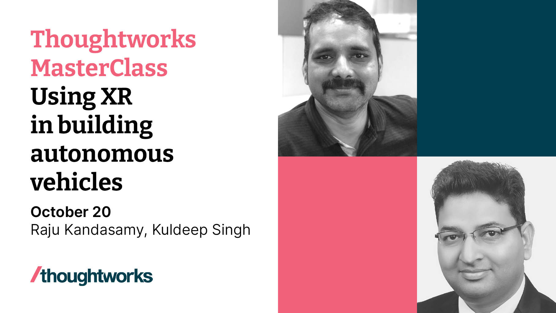 image from Speaker - Thoughtworks MasterClass-2021